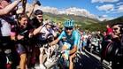 """Vincenzo Nibali, que descubri� sus l�mites en la etapa de ayer, se mostr� ir�nico con Valverde: \""""Cre�a que estaba m�s fuerte\""""."""