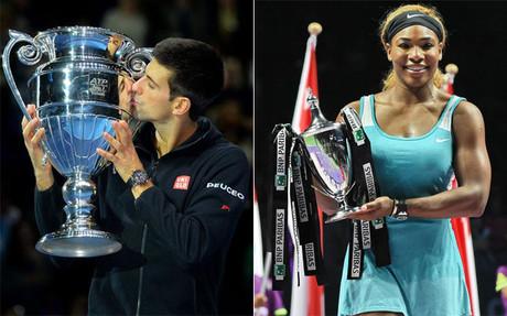 Novak Djokovic y Serena Williams, las mejores raquetas de 2014