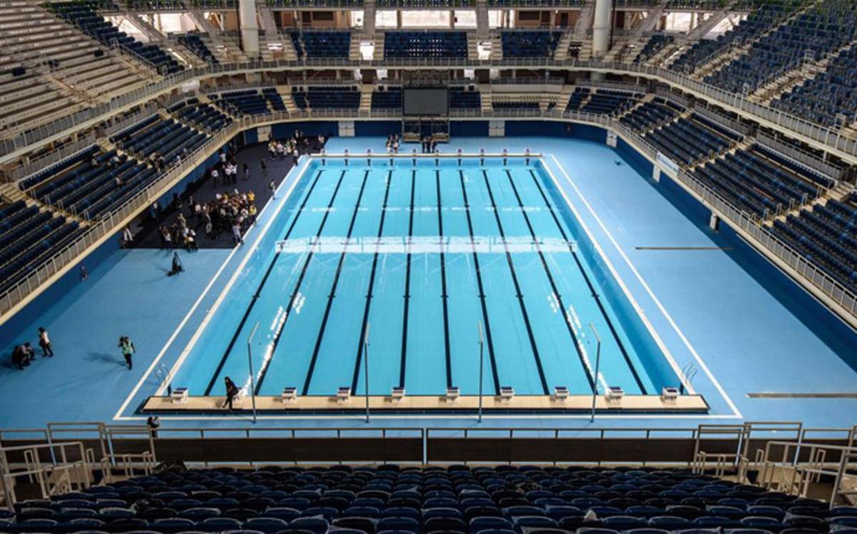R o inaugura al fin su piscina ol mpica for Piscina olimpica madrid
