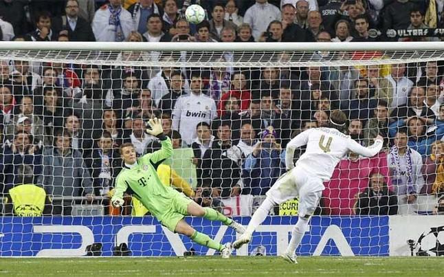 Sergio Ramos lanzó el penalti alto | Foto: Reuters