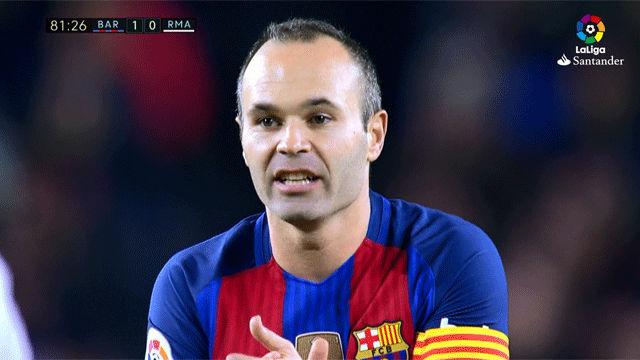 Vea la actuación de Iniesta en el Clásico. Resumen FC Barcelona - Real Madrid (1-1)