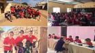 El Infantil A del FC Barcelona durante el stage en Senegal