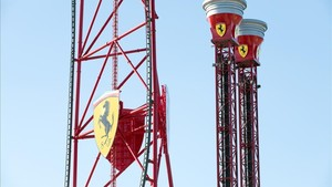 Una imagen de FerrariLand, en PortAventura