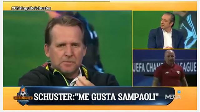 Schuster cree que Sampaoli encajaría en el Barça