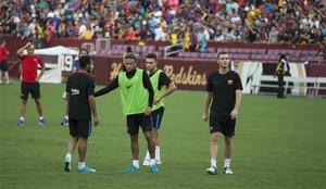 Neymar, en el entrenamiento
