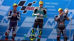 Mir, Bastianini y Di Giannantonio en podio del GP de Aragón170924184129