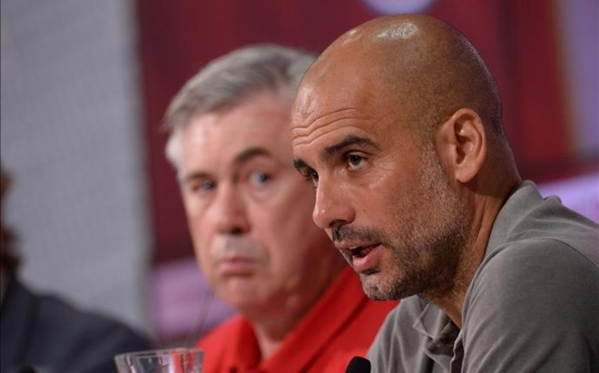 Ancelotti ha heredado el trabajo de Guardiola en el Bayern.