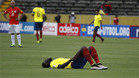 Caicedo tuvo que ser sustituido en el encuentro contra Chile