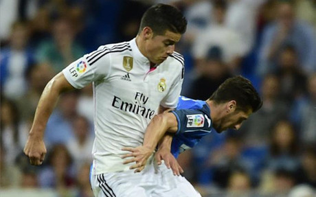 James Rodriguez in action