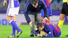 Jordi Alba se lesionó en Anoeta
