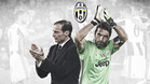 Massimilliano Allegri y Gianluigi Buffon en el mensaje instituvional de la Juventus tras la final de la Champions 2016/17