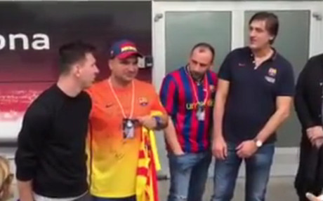 Y tras el récord... Leo Messi recibió el cariño de los fans