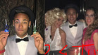 Neymar celebr� su 24 cumplea�os, en familia y con pelucas
