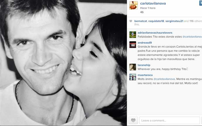 El recuerdo de Carlota en el cumplea�os de Tito
