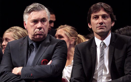 Leonardo y Ancelotti, en una imagen de archivo