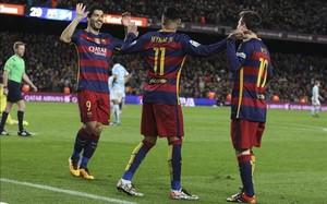 Neymar celebró con un baile su gol. El brasileño nunca pierde la alegría