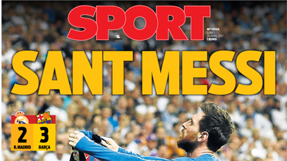 Ya salió la portada de SPORT (ES)