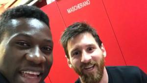 Onana con Leo Messi