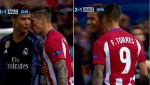 Cristiano Ronaldo y Fernando Torres se encararon
