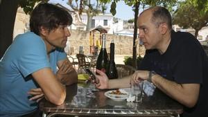 Julio Salinas junto a nuestro compañero David Salinas en una entrevista el pasado verano