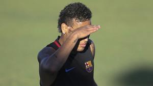 Neymar Junior durante un entrenamiento del FC Barcelona en Estados Unidos