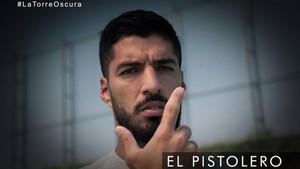 Luis Suárez, delantero del FC Barcelona, en su reto con el Pistolero de La Torre Oscura