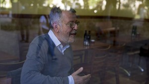 Lluís Canut, durante la entrevista realizada en el restaurante Sant Joan