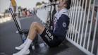 El norteamericano Taylor��Phinney trata de recuperarse tras el esfuerzo f�sico