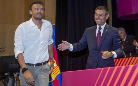 """Bartomeu: """"Estamos muy contentos con Luis Enrique"""""""