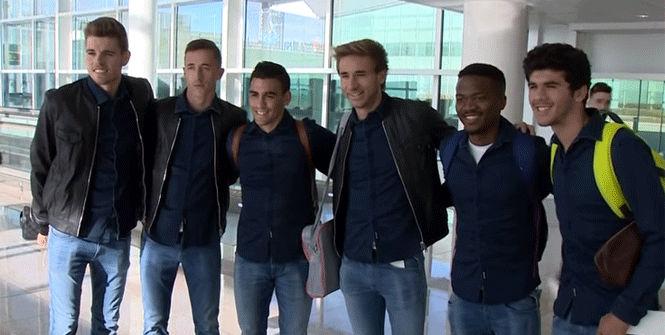 Los jugadores del filial fueron protagonistas en el viaje a Valencia