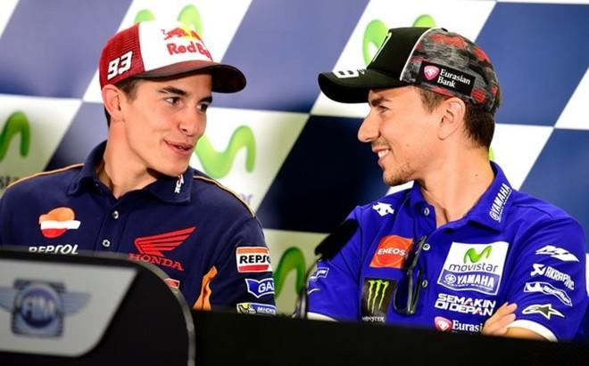 M�rquez y Lorenzo, que ha sido una ayuda en Arag�n frente a Rossi