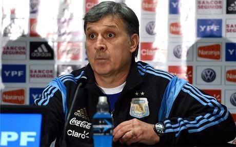 Martino, durante su rueda de prensa con Argentina