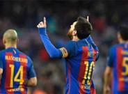 Messi celebra su primer gol ante Osasuna