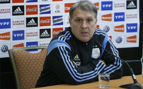 El seleccionador de Argentina, Gerardo Martino, en la previa del amistoso contra Ecuador
