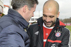 Carragher y Guardiola