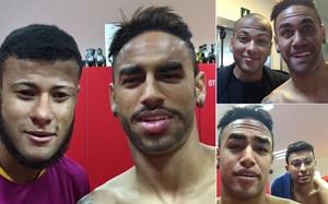 Las imágenes de los cambios de cara de Neymar y sus compañeros
