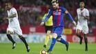 Messi en su partidazo frente al Sevilla