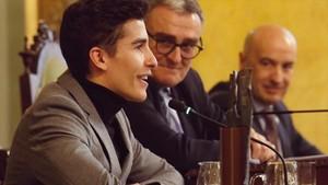 Márquez y el alcalde de Lleida Angel Ros