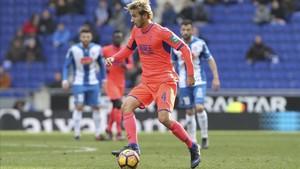 Sergi Samper, en la visita del Granada al Espanyol esta temporada