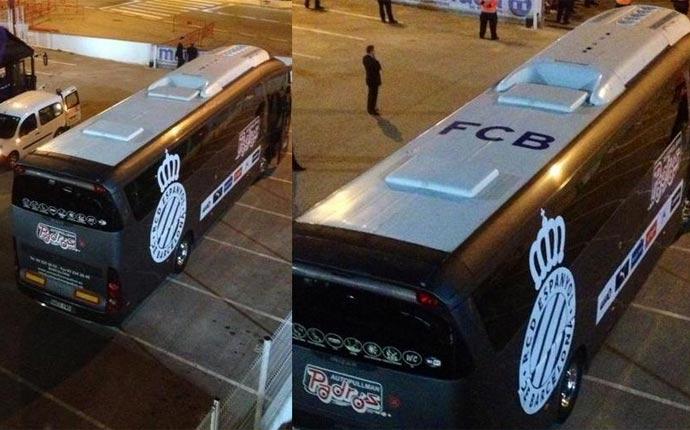 El autocar 'cul�' del Espanyol