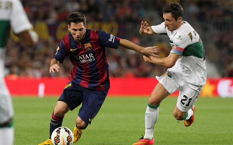 Bar�a y Elche se enfrentaron el pasado agosto en el Camp Nou