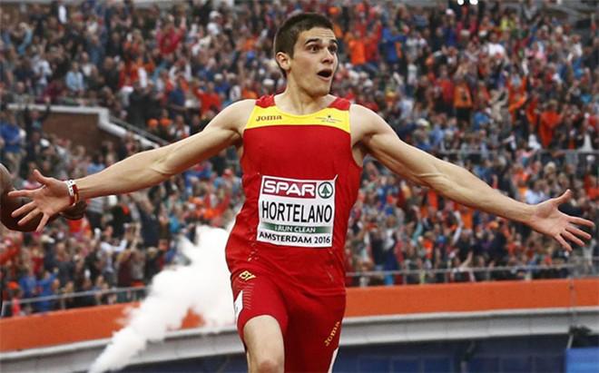 Bruno Hortelano, campe�n de Europa y plusmarquista nacional de 200 metros