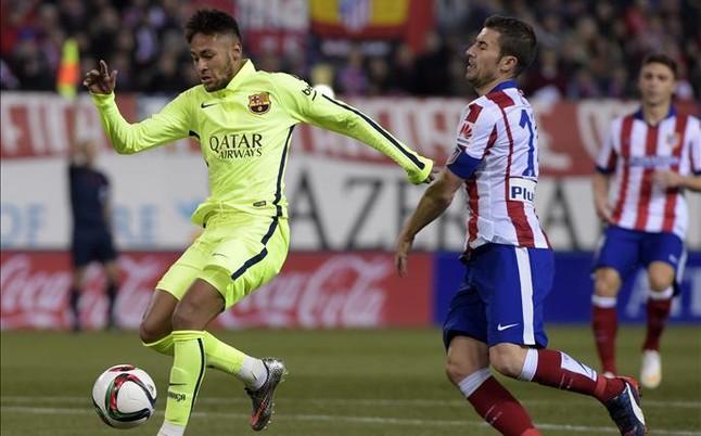 Simeone y Gabi fueron a por Neymar en el t�nel de vestuarios
