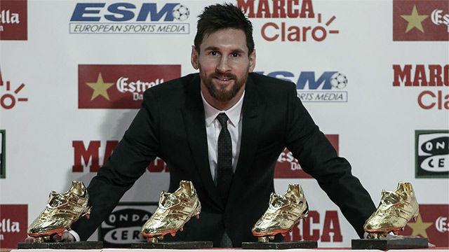 Leo Messi recogió su cuarta Bota de Oro