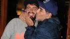 Maradona, con Diego Jr., su hijo