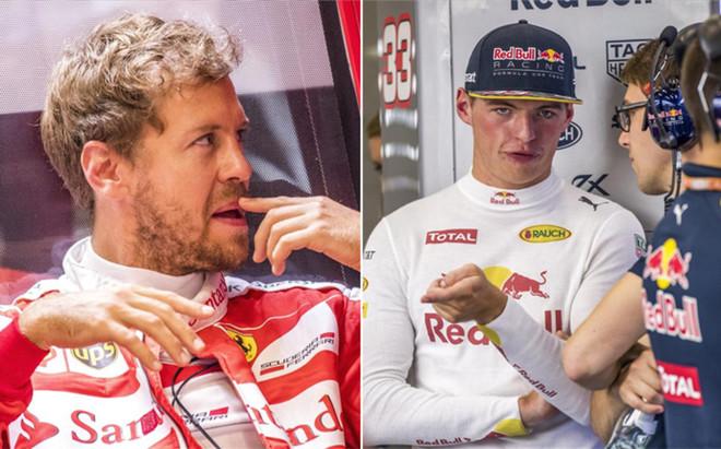 Vettel y Verstappen acabaron descontentos tras el GP B�lgica