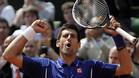 Djokovic celebrando su victoria