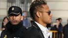Neymar, a su entrada en la Audiencia Nacional
