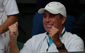 Una imagen poco habitual ¡Ivan Lendl mostrando sus emociones!