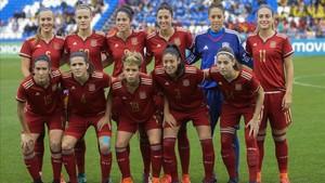 La selección española femenina disputa la Eurocopa de Holanda